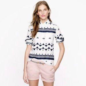 J CREW •• Aztec Print Popover Shirt